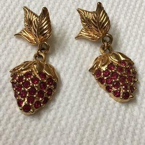 GIFT ALERT Vintage Avon Strawberry Earrings
